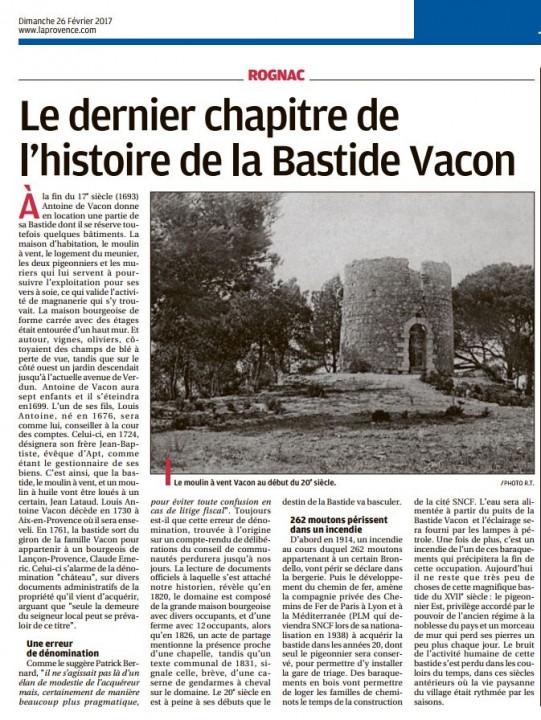 Chroniques de l'histoire de Rognac 260217