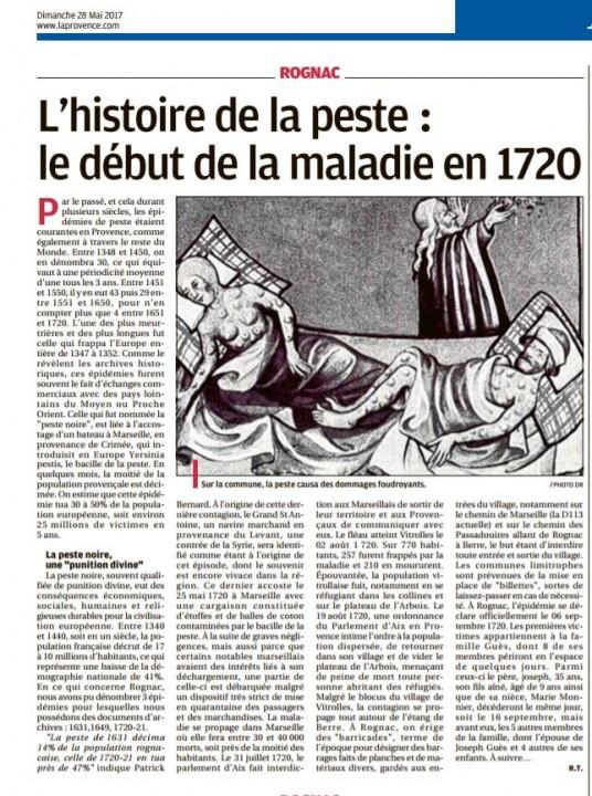 Chroniques de l'histoire de Rognac 280517
