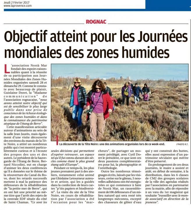 La Provence du 20217 bilan JMZH